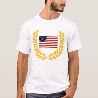 米国の旗のリースのワイシャツ Tシャツ
