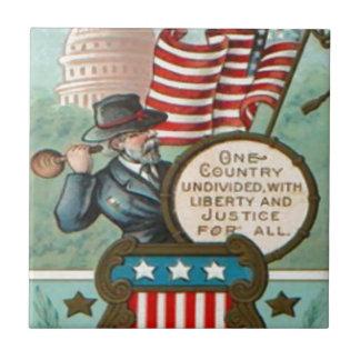 米国の旗のリースの内戦連合兵士議会の先生 タイル