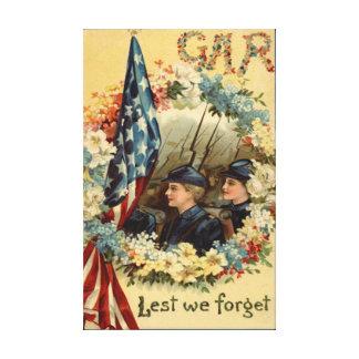 米国の旗のリースパレードの3月の内戦 キャンバスプリント