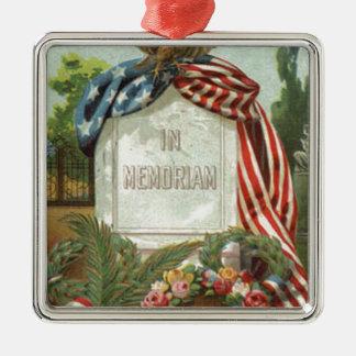 米国の旗のワシのリースの墓碑の墓石は上がりました メタルオーナメント