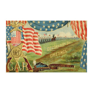 米国の旗の内戦連合メダル キャンバスプリント