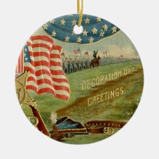 米国の旗の内戦連合メダル セラミックオーナメント