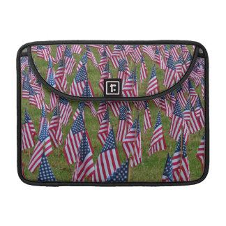 米国の旗の分野 MacBook PROスリーブ