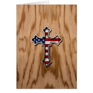 米国の旗の十字 カード
