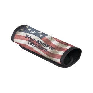 米国の旗の古い栄光の赤、白および青 ラゲッジ ハンドルラップ