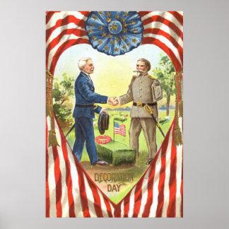 米国の旗の同盟国連合内戦 ポスター