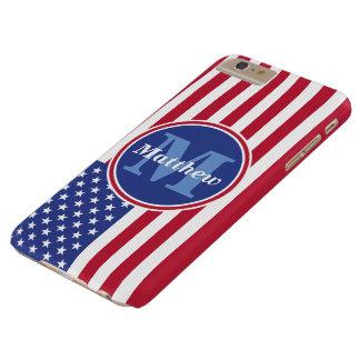 米国の旗の名前およびモノグラム BARELY THERE iPhone 6 PLUS ケース