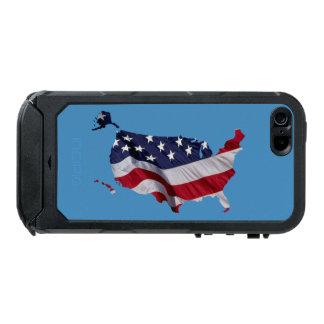 米国の旗の地図 ウォータープルーフiPhone SE/5/5sケース