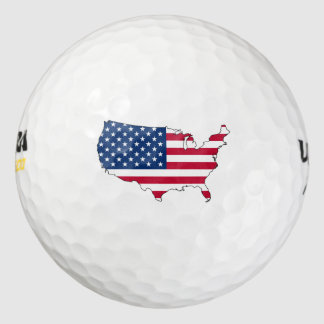 米国の旗の地図 ゴルフボール