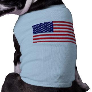 米国の旗の小犬の骨があるタンクトップ ペット服