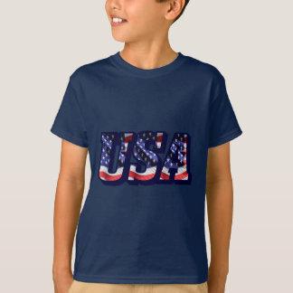 米国の旗の手紙、旗は暗闇によって着色されるTシャツをからかいます Tシャツ