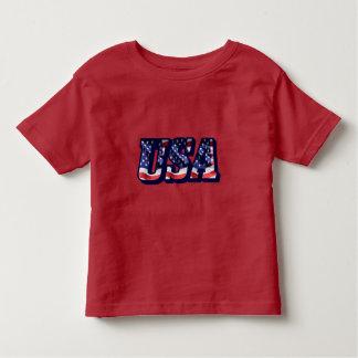 米国の旗の手紙、米国旗の幼児のTシャツ トドラーTシャツ