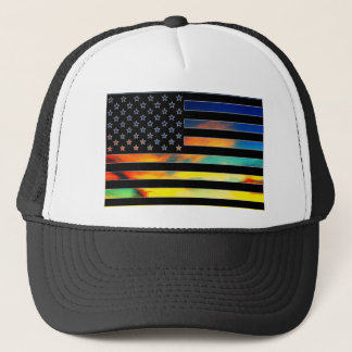米国の旗の日没の帽子 キャップ