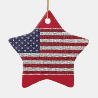 米国の旗の星の装飾のメリークリスマスの文字 セラミックオーナメント