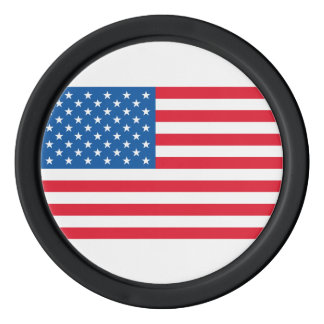 米国の旗の星条旗 カジノチップ