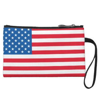 米国の旗の星条旗 クラッチ