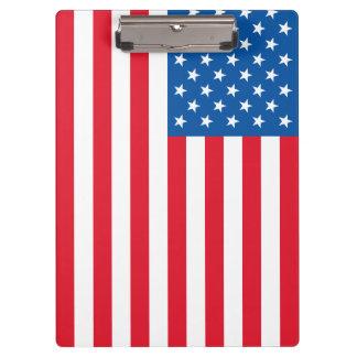 米国の旗の星条旗 クリップボード