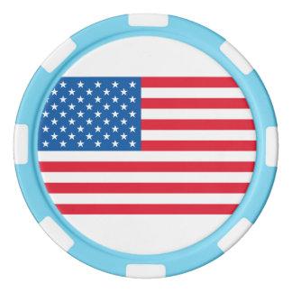 米国の旗の星条旗 ポーカーチップセット