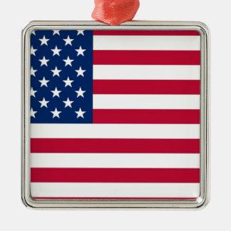 米国の旗の星条旗 メタルオーナメント