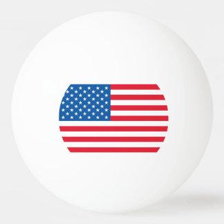 米国の旗の星条旗 卓球ボール