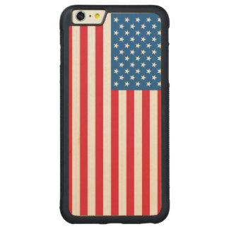米国の旗の星条旗 CarvedメープルiPhone 6 PLUSバンパーケース
