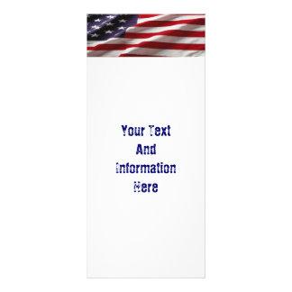 米国の旗の棚カード ラックカード