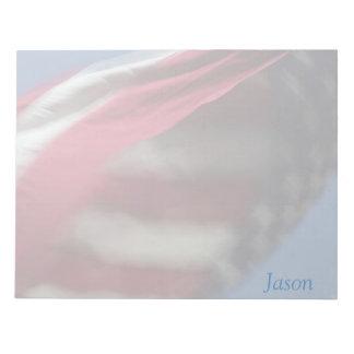 米国の旗の渦巻の大きいメモ帳 ノートパッド