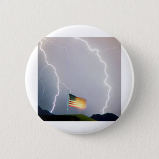 米国の旗の照明 5.7CM 丸型バッジ