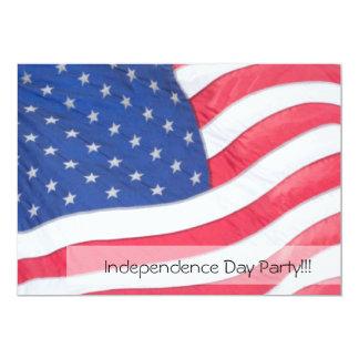 米国の旗の独立記念日の招待状 カード