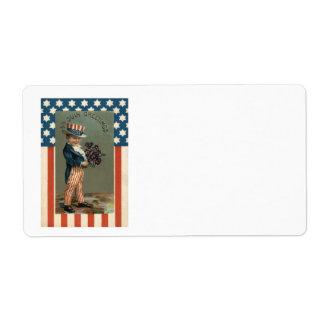 米国の旗の米国市民男の子のバイオレット ラベル