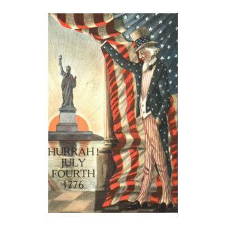 米国の旗の米国市民自由の女神 キャンバスプリント