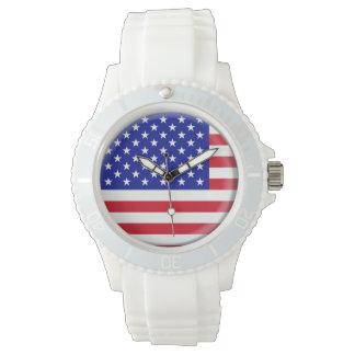 米国の旗の腕時計 リストウオッチ