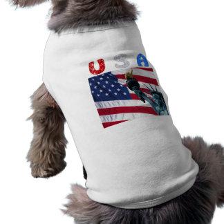 米国の旗の自由 ペット服