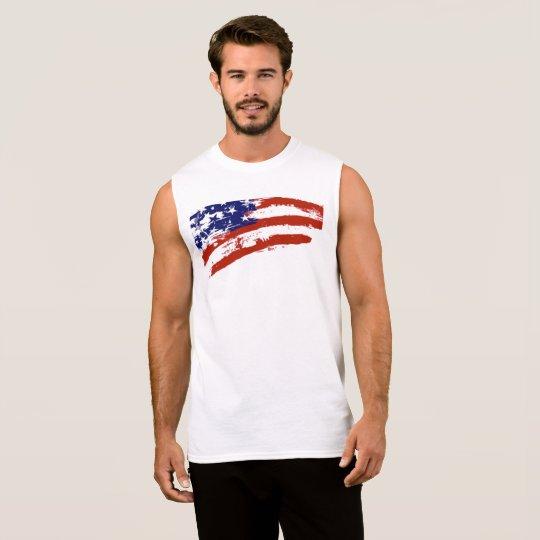 米国の旗の芸術の袖なしのTシャツ 袖なしシャツ