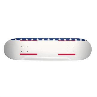 米国の旗の赤白青の星のストライプなスケートボード 20CM スケートボードデッキ