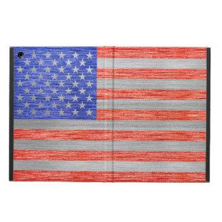 米国の旗の金属1 iPad AIRケース