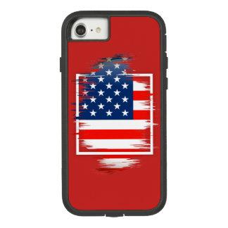米国の旗のAppleのiPhone 7、堅いXtremeの電話箱 Case-Mate Tough Extreme iPhone 8/7ケース