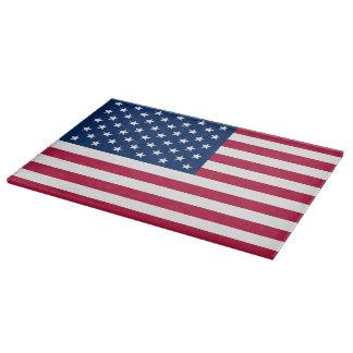 米国の旗を持つ愛国心が強く、特別なまな板 カッティングボード
