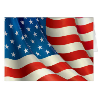 米国の旗を振る星条旗 カード