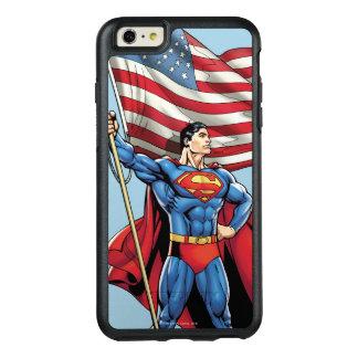 米国の旗を握っているスーパーマン オッターボックスiPhone 6/6S PLUSケース