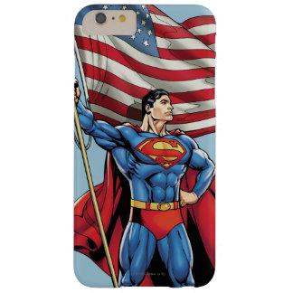 米国の旗を握っているスーパーマン スキニー iPhone 6 PLUS ケース
