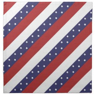 米国の旗パターン ナプキンクロス