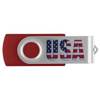米国の旗パターン USBフラッシュドライブ