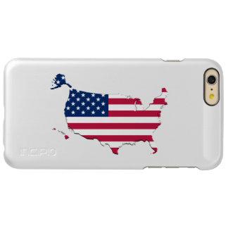 米国の旗地図 INCIPIO FEATHER SHINE iPhone 6 PLUSケース