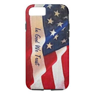 米国の旗私達は-神で…信頼します iPhone 8/7ケース