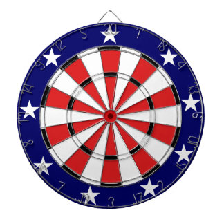 米国の旗色 ダーツボード