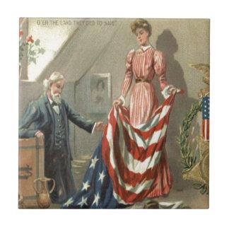 米国の旗連合内戦メダルワシのリース タイル