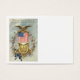 米国の旗連合内戦メダルワシのリース 名刺