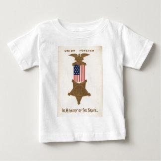 米国の旗連合内戦メダルワシ ベビーTシャツ