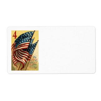 米国の旗7月第4 ラベル